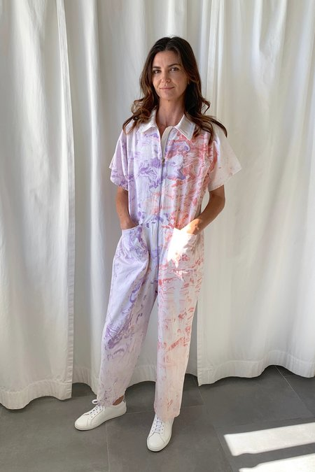 Rachel Comey Barrie Jumpsuit - Lilac Marble
