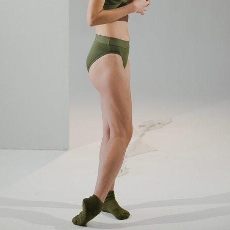 Baserange Elastic Bell Pants - Apache Green