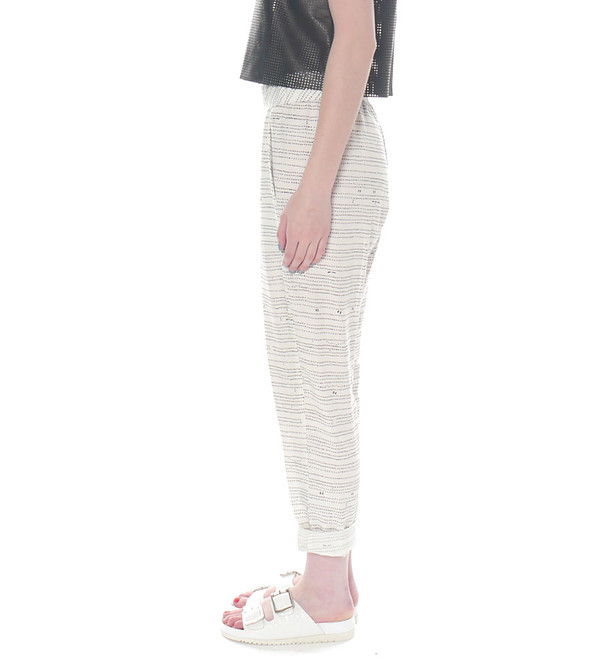 Raquel Allegra Linen Pant with Dot Pattern