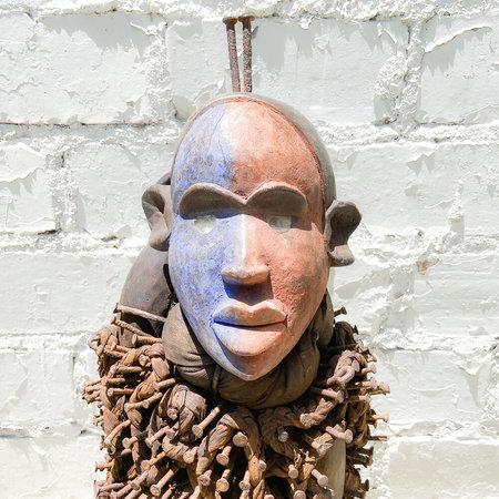 Vintage Kongo Peoples Power Figure Nkisi Nkondi