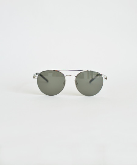 Le Specs Silver Spartan Sunglasses