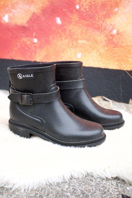 Aigle Macadames Low Back Boots - Black
