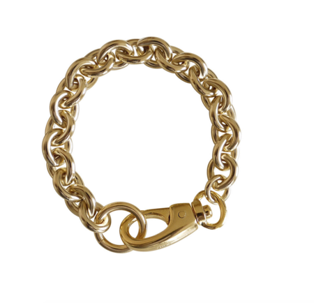 Laura Lombardi cable bracelet - 14kt gold plated brass