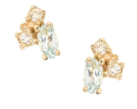 Ruta Reifen March Studs - Aquamarine Diamond