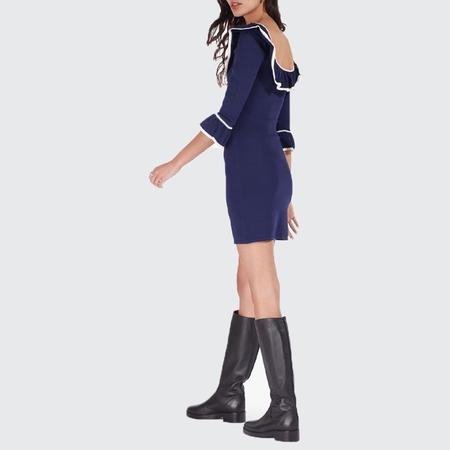 Staud Anouk Knit Dress - Navy