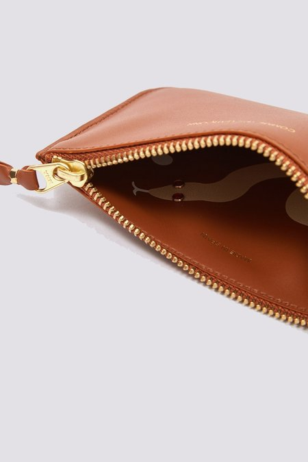 Comme des Garçons Leather Ruby Eyes Zip Pouch - Brown