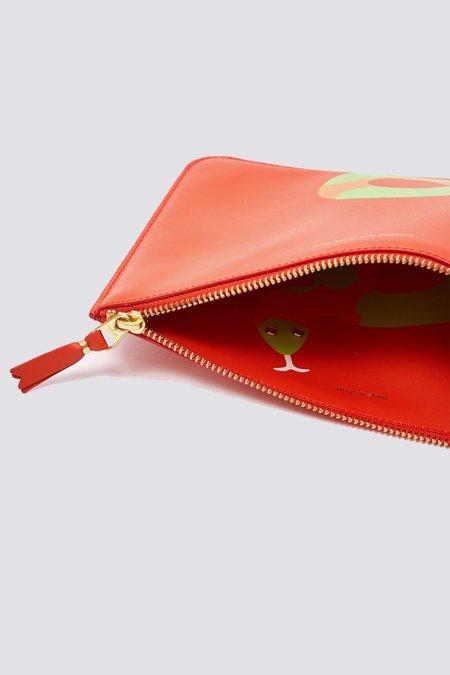 Comme des Garçons Leather Ruby Eyes Zip Wallet - Orange