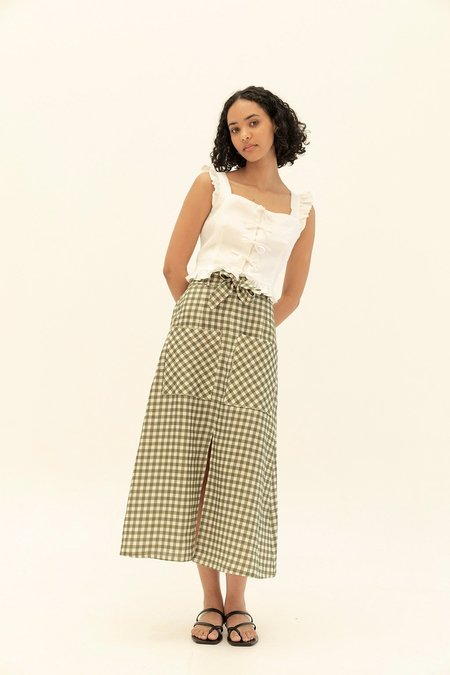 Muse the Label Holly Skirt - Khaki Check