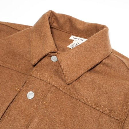 KATO The Blade G Heavy Melton Wool Jacket - Camel
