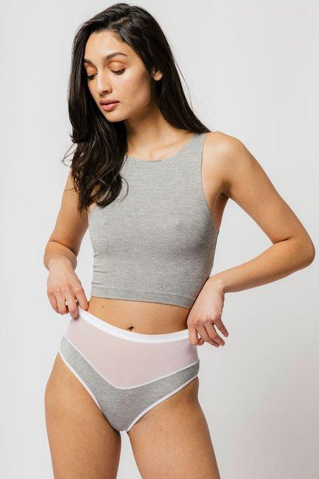 Logan High Cut Bikini in Grey
