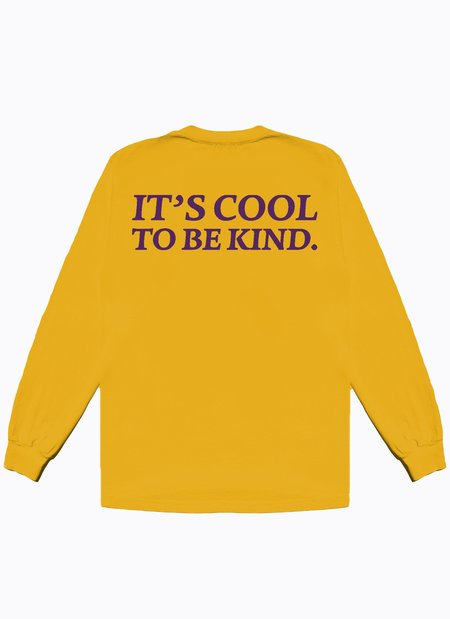 Noble Gentlemen Trading Co. Cool To Be Kind LS Tee - Marigold