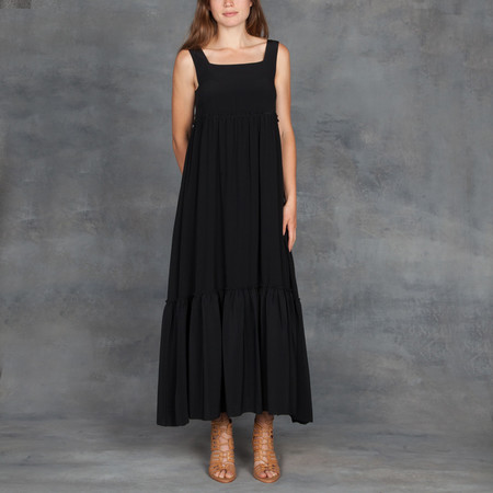 Apiece Apart Santos Ruffle Tank Dress in Black