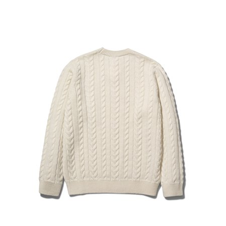 Norse Projects ARILD CABLE SWEATER - ECRU