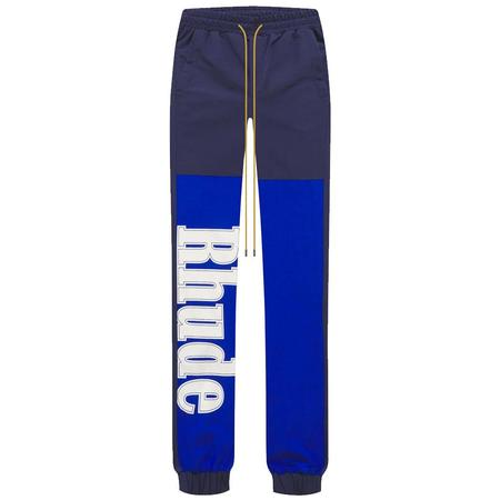 RHUDE Logo Flight Pant - Blue/Navy