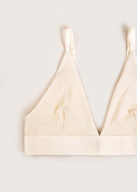 Baserange Rib Triangle Bra - Off-White