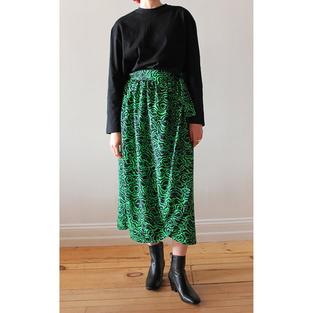 Rodebjer Gilot Skirt - Emerald Green