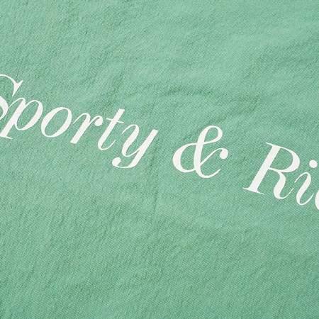 Sporty & Rich Serif Logo Tote - Pistachio