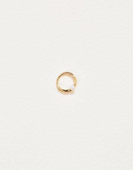 Pamela Love 6mm Floating Pearl Clicker - Gold