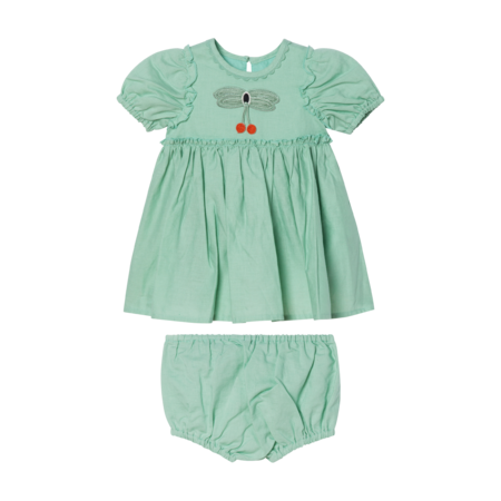 Kids STELLA MCCARTNEY Dress with Butterfly Lace - Mint