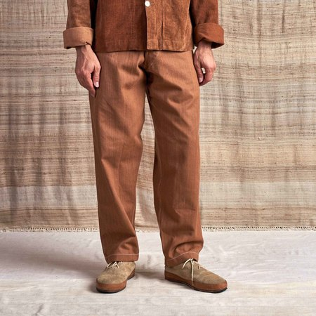 Story Mfg British Jeans in Organic Selvedge Denim - Bark Brown