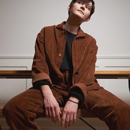 Story Mfg British Jeans in Organic Velvet - Bark Brown