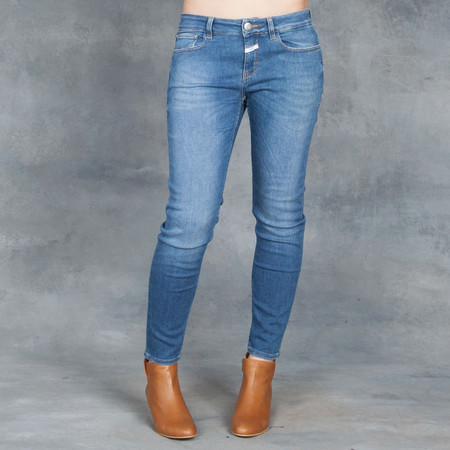 Closed Clothing Baker Cropped Mid Blue Jeans