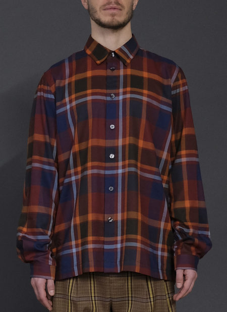 L/S BOX SHIRT IN RUST MIX ICON PLAID