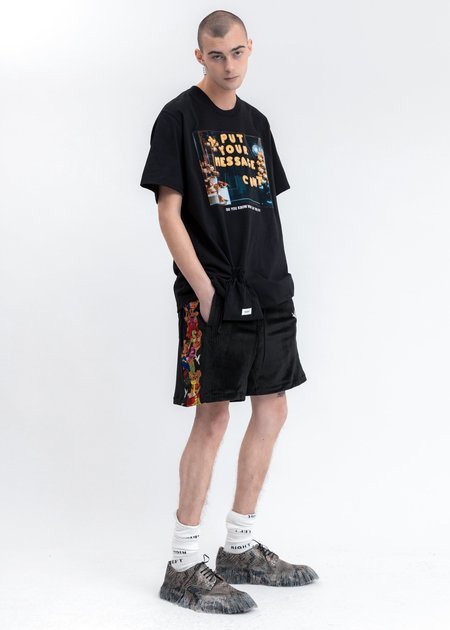 Doublet Chaos Embroidery Comfy Shorts - black