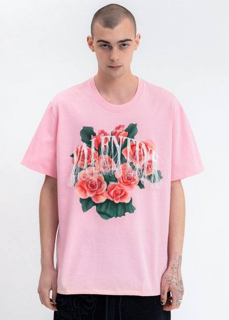 Doublet Not Valentine Embroidery T-Shirt - pink
