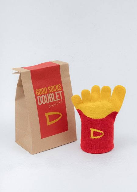 Doublet Fried Potato Socks - red