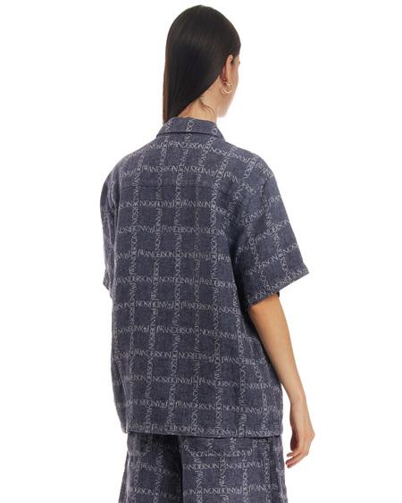 JW Anderson Plaid Shirt - Blue Navy Plaid