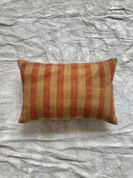 Cuttalossa & Co. Watercolor Stripe Pillow 16'' x 24'' - Red/Gold
