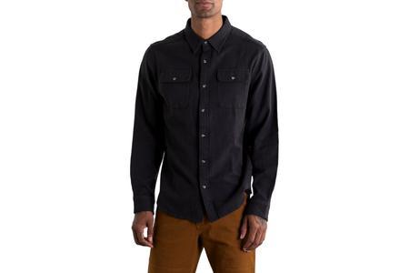 Bridge & Burn Bedford Herringbone shirt - Black