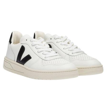 VEJA V-10 Leather Sneakers - Extra White/Black