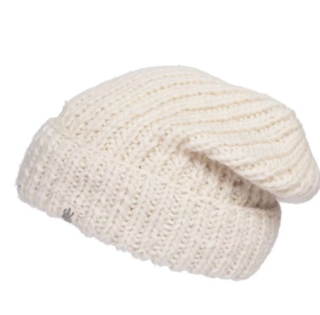 Nirvanna Designs The Cool Rib Fold Beanie - white
