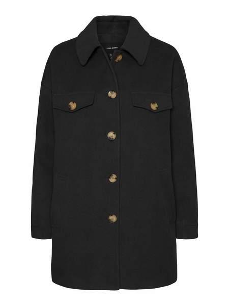 VERO MODA Soft Shirt Jacket - Black