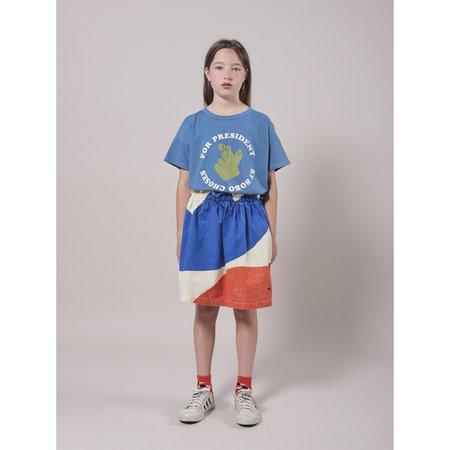 kids bobo choses landscape woven skirt - blue/orange/white