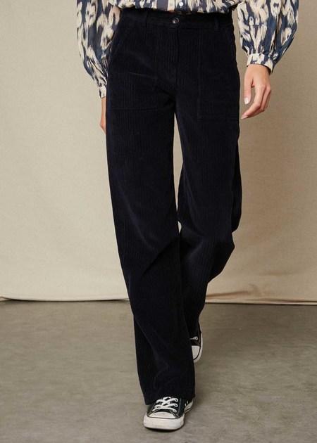 Hartford AUPL600 Corduroy pants - Navy