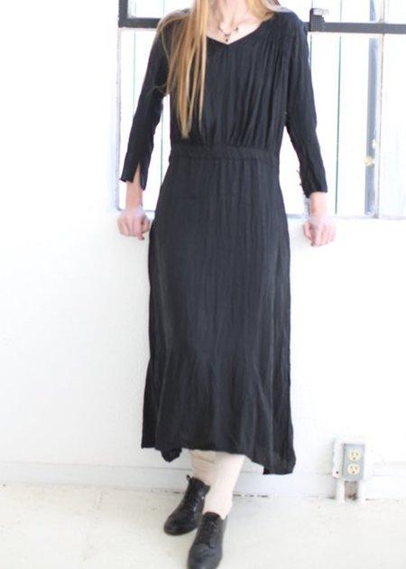 Hazel Brown Cupro Dress - black