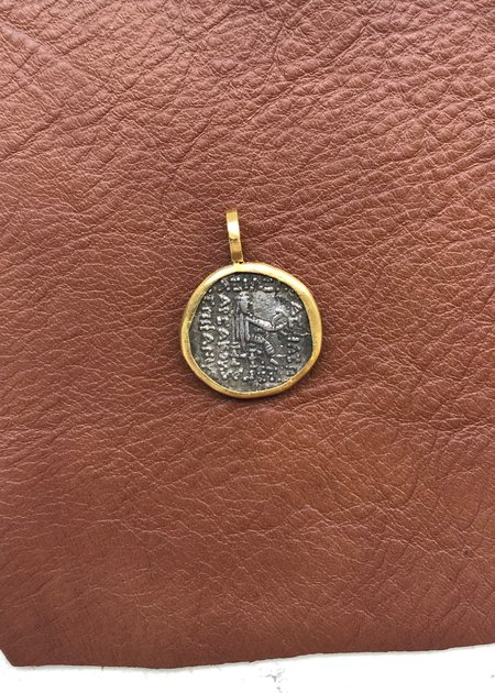 Heike Original Parthian Empire 121-91bc Coin pendant - 22k gold