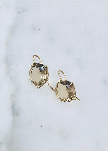 Rosanne Pugliese Champagne Citrine Earrings - 18k gold