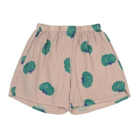 Kids Bobo Choses Shorts With All Over Tomato Print - Beige