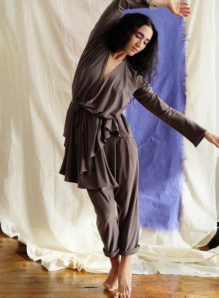 Meg Movement Wrap Top - Putty