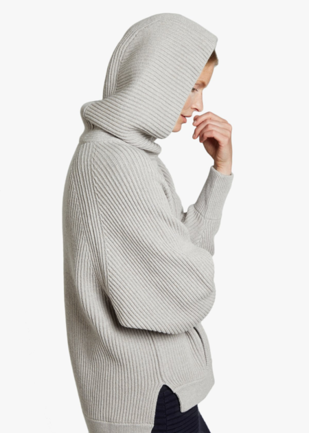 Oyun Hooded Poncho Tunic - Fog