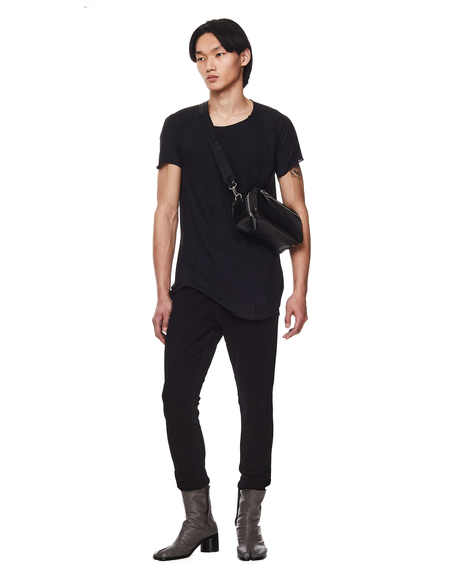 Leon Emanuel Blanck Cotton & Wool T- shirt - Black