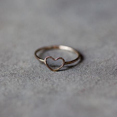 Melissa Joy Manning Heart Ring in Sterling Silver