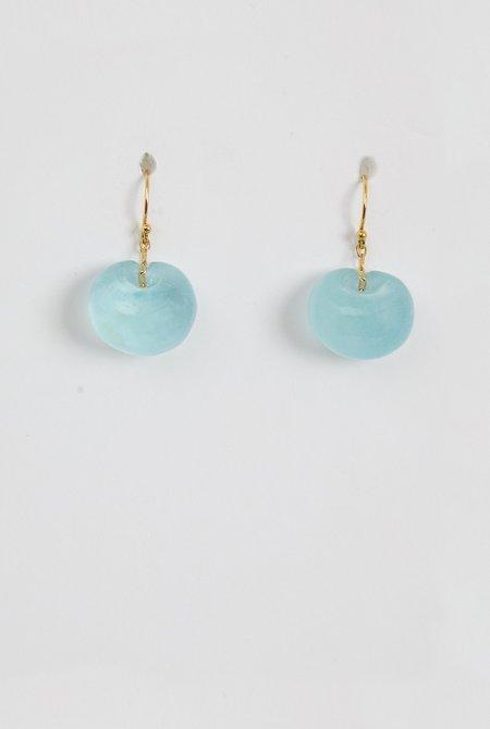 TEN THOUSAND THINGS Aqua Tapiz Bead Earrings - 18k Gold