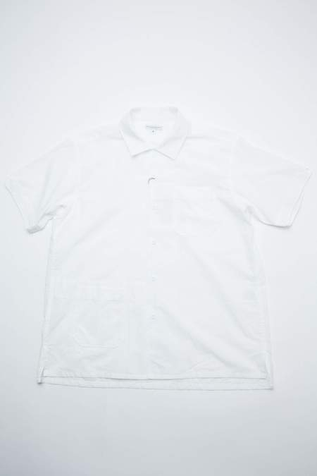 Engineered Garments Solid Cotton Lawn Camp Shirt - White