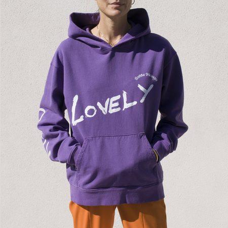 Unisex Perks and Mini Lovely Hooded Sweatshirt - Grape