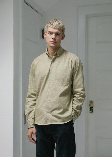Steven Alan Single Needle Shirt - Sandstone Stripe